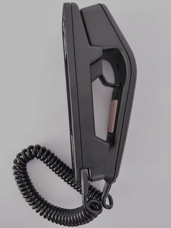 Peiker Handset with PTT switch plus cradle and RJ-45