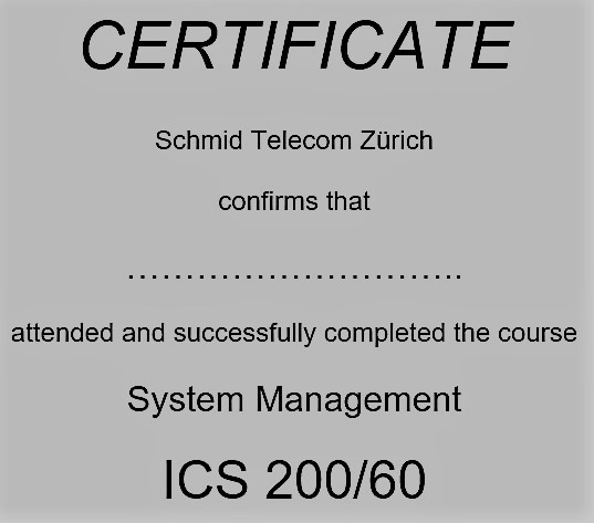 ICS 200/60 System Management Training
